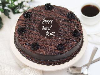 New Year Chocolate Truffle Cake