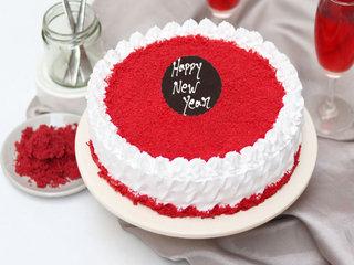 New Year Red Velvet Cake