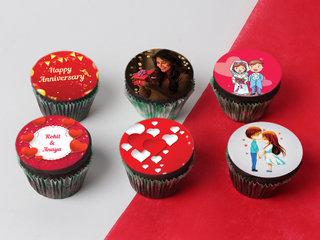 Personalised Anniversary Cupcakes Set