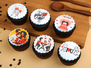 Personalised Love Cupcakes