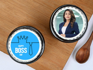 Photo Jar Cakes For Boss