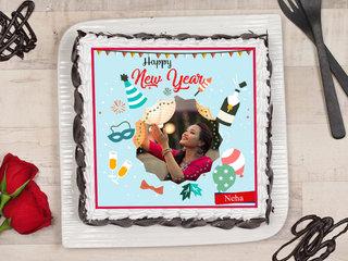 Photo New Year Cake