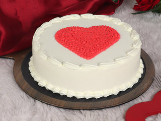 Pineapple Cake With Heart