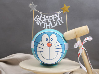 Doraemon Pinata Cake with Hammer in Pineapple Flavour