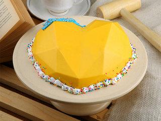 Heart Shaped Pineapple Pinata Cake with Hammer
