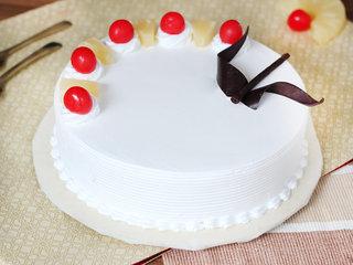 Sweet Round Shape Pineapple Cake