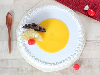 Top View of Vanilla Pineapple Cake