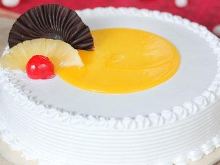Zoom View of Vanilla Pineapple Cake