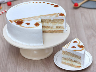 Sliced View of Pure Heaven Pineapple Round Shaped Cake in Noida