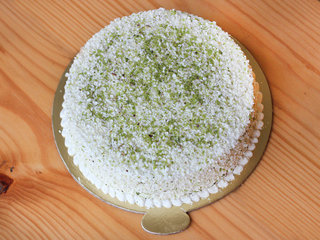 Top View of Delectable pistachio cake