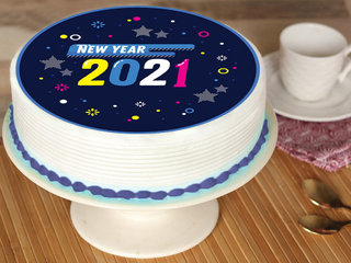 New Year Poster Cake