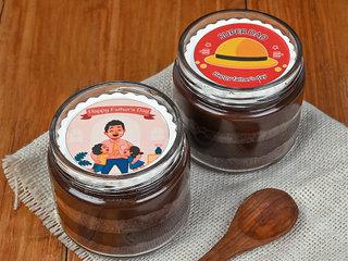 Choco Fathers day Jar Cake