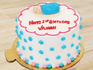 First Birthday Theme Cake for Boys and Girls