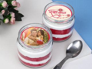 Cute Raksha Bandhan Jar Cake