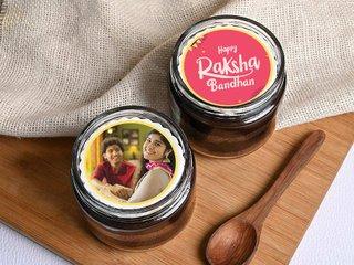 Rakhi Photo Jar cakes