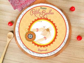 Rakhi with Poster Cake for Brother
