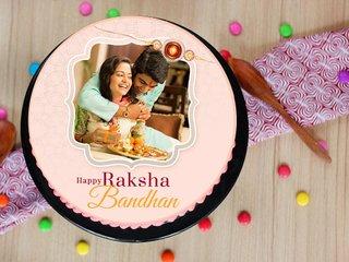 Happy Raksha Bandhan Personalised Cake