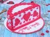 Side View of Red Velvet Half Cake