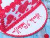Zoomed View of Red Velvet Half Cake