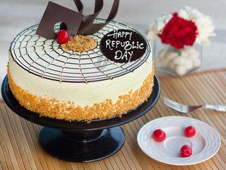 Republic Day Butterscotch Cake