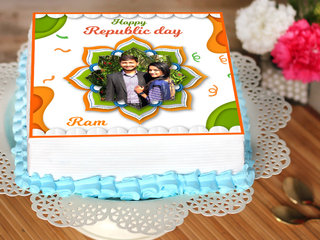 Republic Day Photo Cake