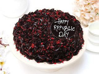 Republic Day Red Velvet Chocolate Cake