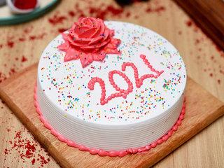 New Year Cream Cake
