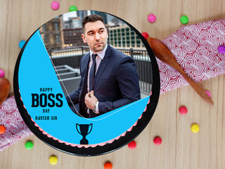 Round Boss Day Picture Licious Cake
