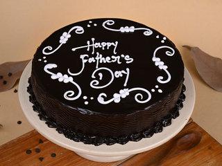 Round Chocolate Cake Fathers Day Cake
