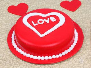Love Fondant Cake
