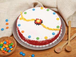 The Rakhi Red Velvet Cake