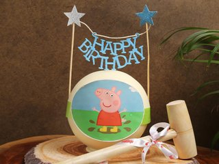 Peppa Pig Pinata Cake in Red Velvet Flavour