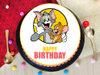 Tom N Jerry Pineapple Poster Cake