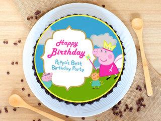 Vibrant Peppa Pig Chocolate Cake