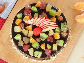 Top View of Refreshing Nostalgia - Choco Fruity Cake