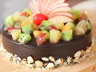 Zoomed View of Refreshing Nostalgia - Choco Fruity Cake