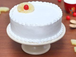 Sweet Vanilla Retreat - Round Shaped Vanilla Cake in Noida