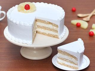 Sliced View of Sweet Vanilla Retreat - Round Shaped Vanilla Cake in Noida
