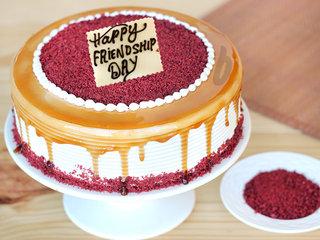Red Velvet Choco Coffee Cake For Friendship Day Celebration