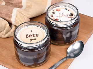 Set Of Two Chocolate Jar Cakes