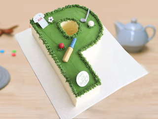 P Alphabet Cake