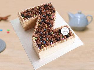 Z Shaped Alphabet Cake