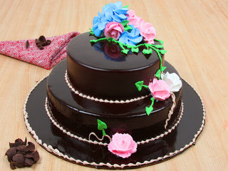 Dreamy Chocostacy - 2 Tier Chocolate Cake
