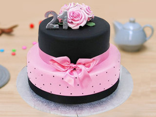 2 Tier Rose Party Cake