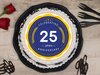 Round-Shaped 25th Anniversary Poster Cake