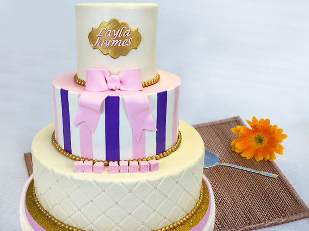 3 Tier Bow Party Cake