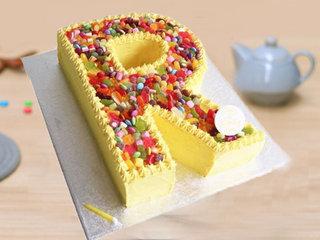 R Alphabet Candy Cake