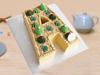 A Shaped Alphabet Cake