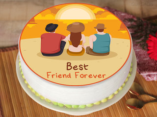Friendship Day Photo Cake For Best Friends