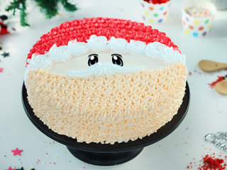 Santa Theme Cream Cake